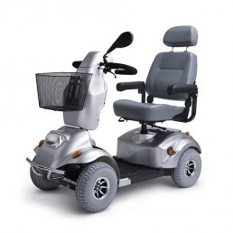 Električni skuter za invalide ALVARO, 15 km/h, srebrne barve